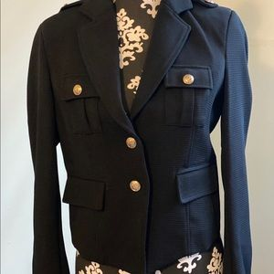 NWT Military Style Jacket (BLACK) w/gold buttons